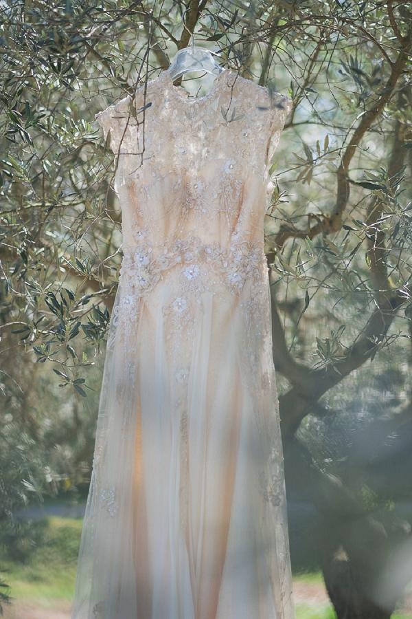 vintage cream wedding dress