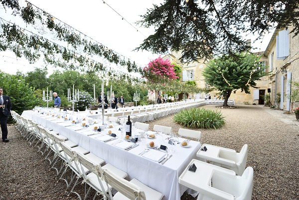 white and green wedding reception