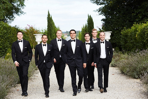 black bow tie groomsmen