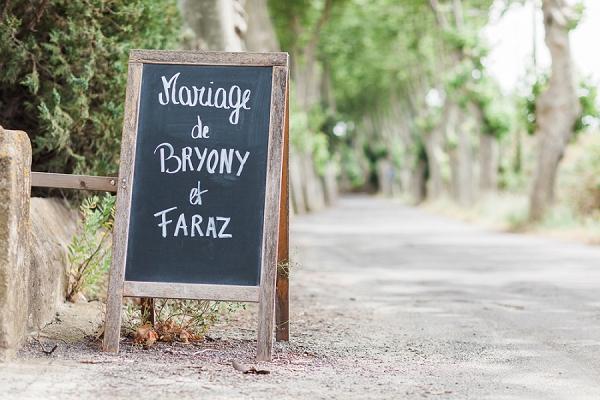 chalk board wedding sign