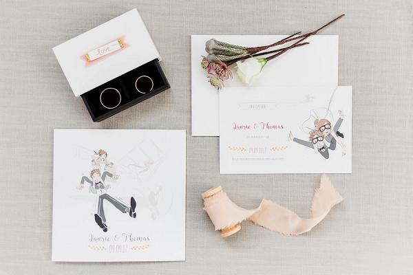 cute wedding stationery