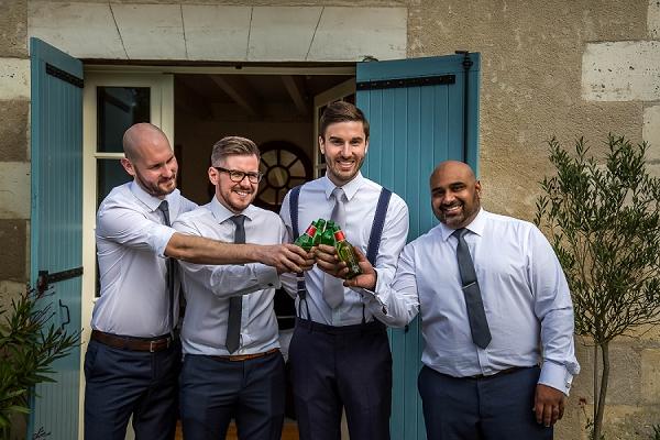 groom prep cheers photo