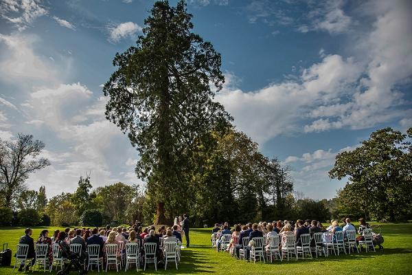 outdoor wedding ceremony France