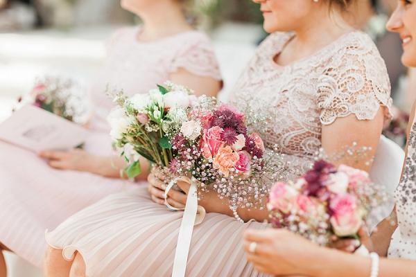 pretty chateau wedding flowers