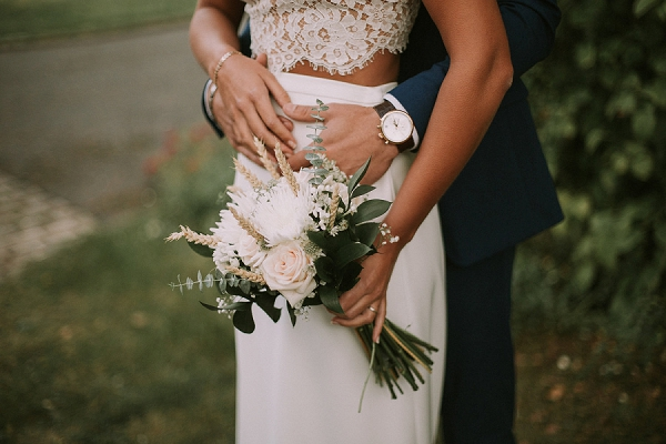 two piece wedding outfit
