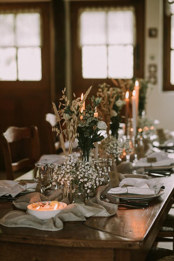 wheat wedding decor