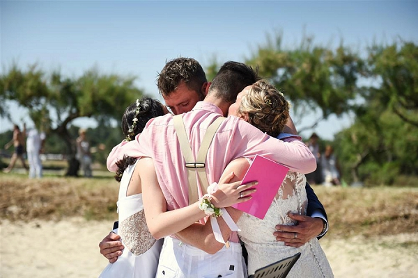 Emotional Beach Wedding Aquitaine France