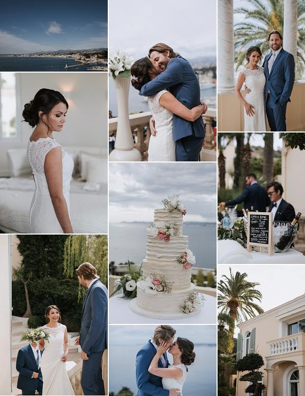 French Riviera Villa Chateau la Tour Real Wedding Snapshot