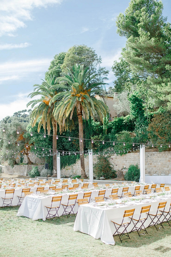 Outdoor French Riviera Wedding
