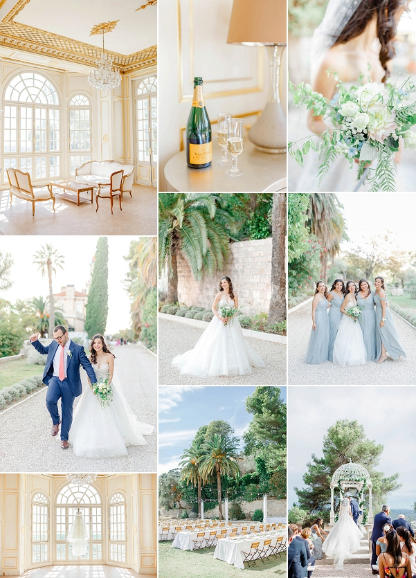 French Wedding Style Romantic Château Saint Georges Wedding in Grasse