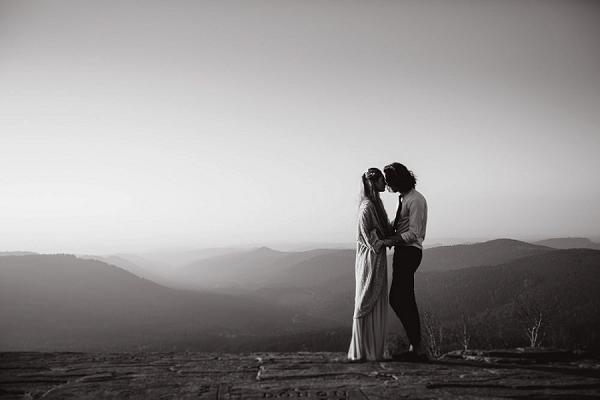 Winter Inspired Wedding Photo