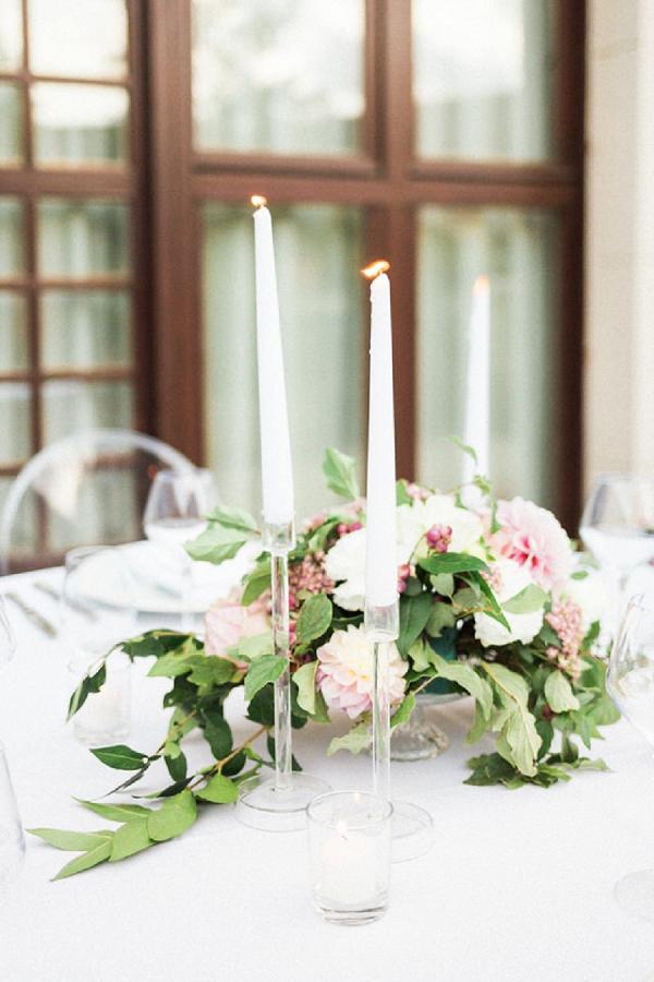 clear wedding decor