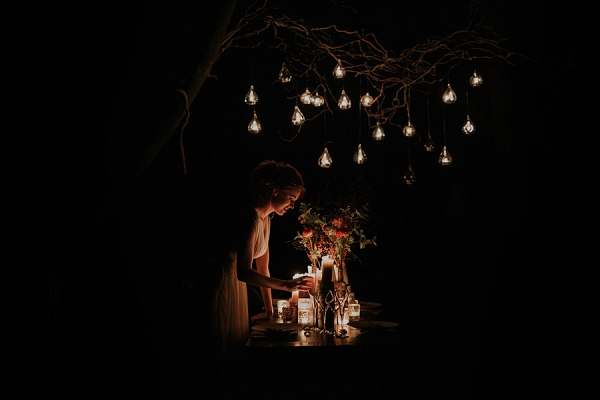 hanging wedding candles