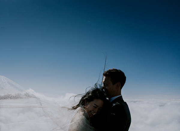 mountain top wedding portraits