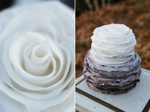 multi tone wedding cake