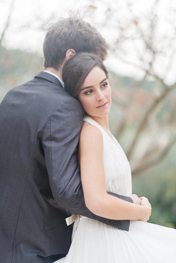 romantic wedding portrait