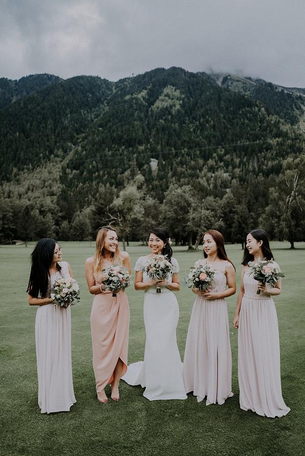 stylish bridesmaids