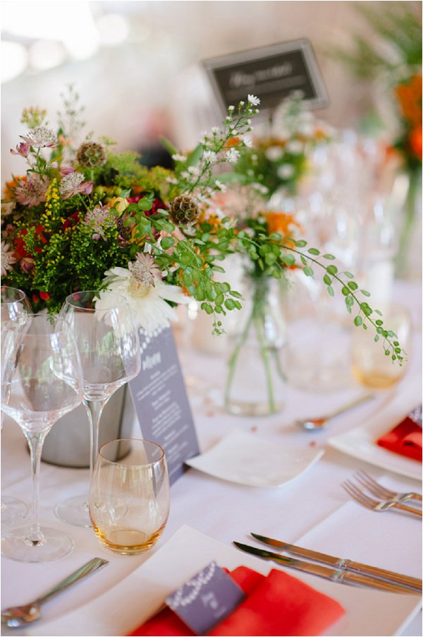 French Country Wedding Colourful Table Decor