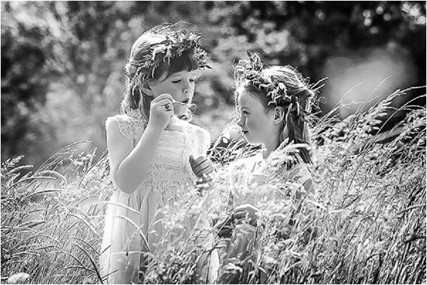 French Country Wedding Flower Girls