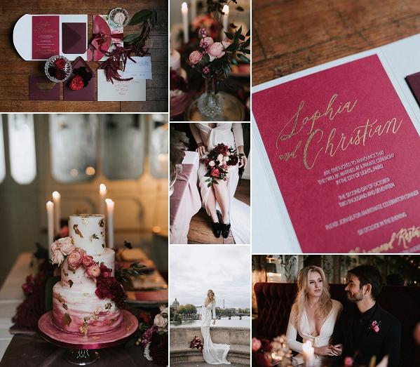 Burgundy Inspired Le Pharamond Wedding Inspo Snapshot
