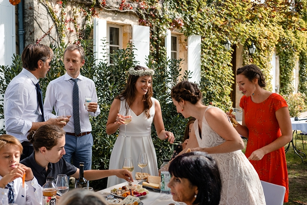 Chateau Giscours outdoor drinks reception