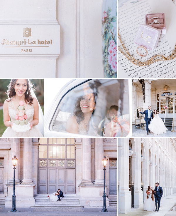 Christmas Shangri La Hotel Paris Wedding Snapshot