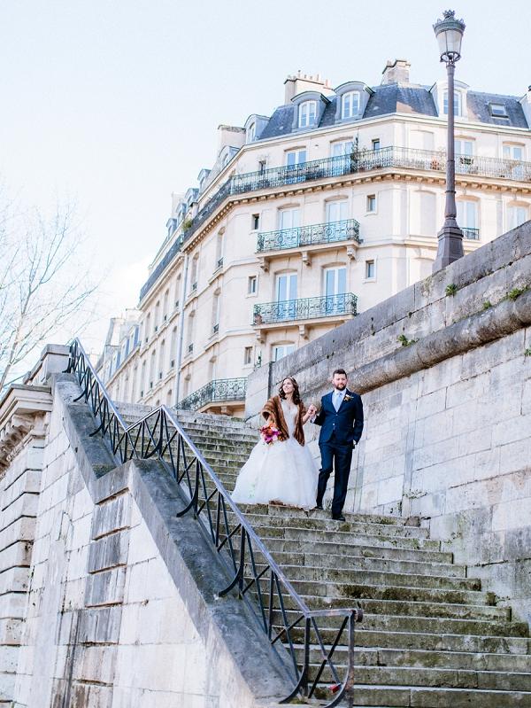 Christmas Shangri La Hotel Paris Wedding
