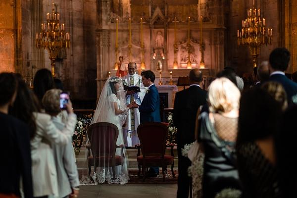 Church of St Emilion wedding ceremony