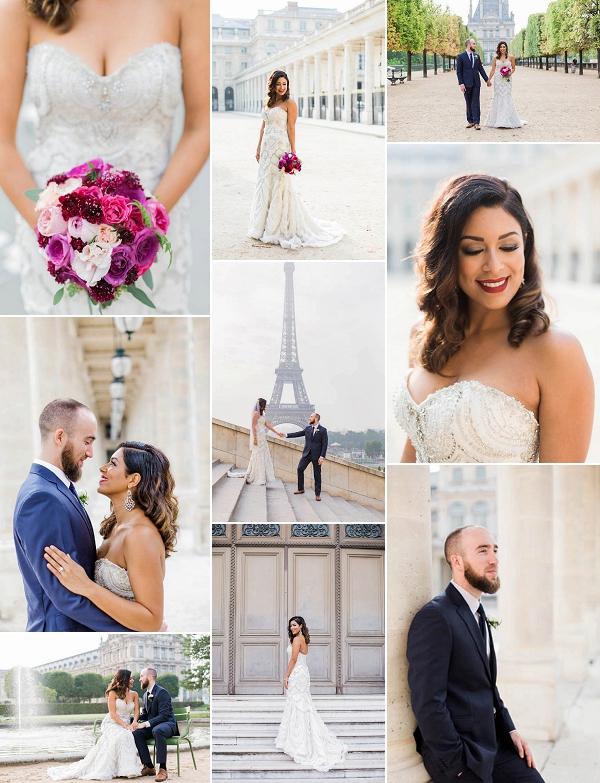 Intimate Eiffel Tower Wedding Ceremony Snapshot