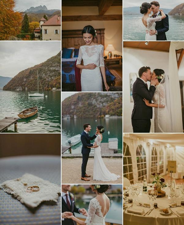 Picturesque Abbaye de Talloire Wedding Snapshot