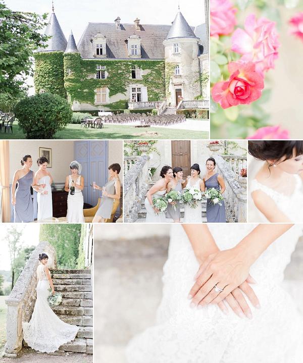 Pretty Pastel Château de la Côte Wedding Snapshot