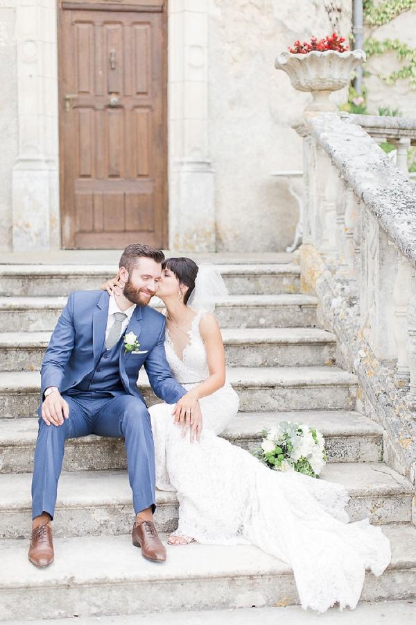 Pretty Pastel Château de la Côte Wedding
