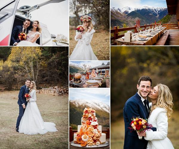 Romantic Autumn Wedding in French Mountains Snapshot