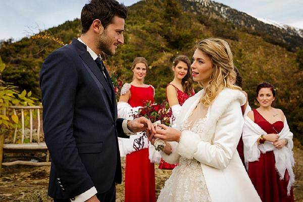 Romantic Autumn Wedding in French Mountains