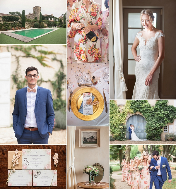 Stylish French Château De Malliac Wedding Snapshot
