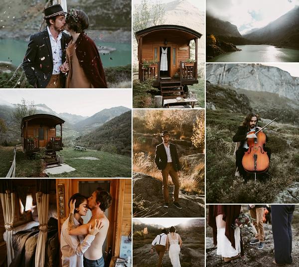 Wild and Romantic Lakeside Wedding Shoot Snapshot