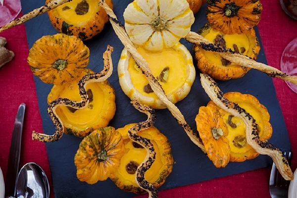 autumn wedding food