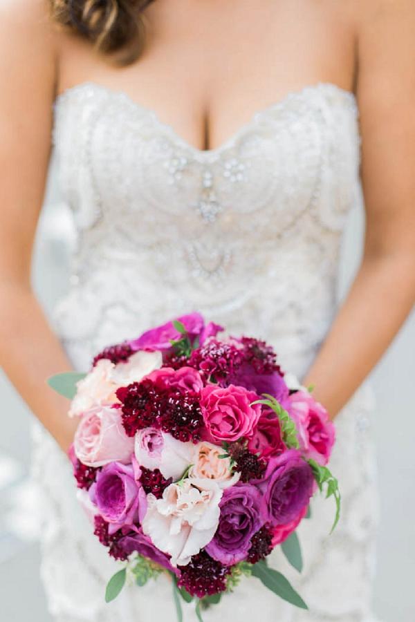bright wedding flowers