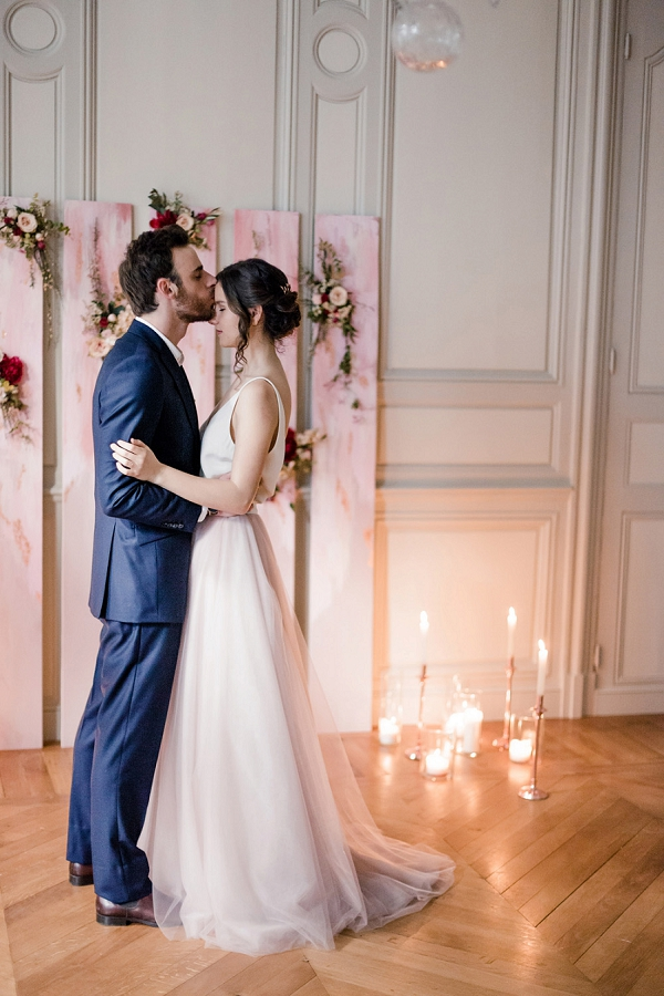 candle lit wedding ceremony