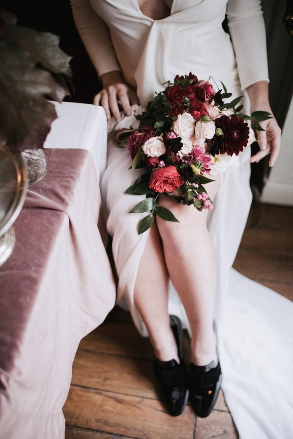 deep rich wedding blooms