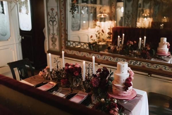 deep rich wedding flowers