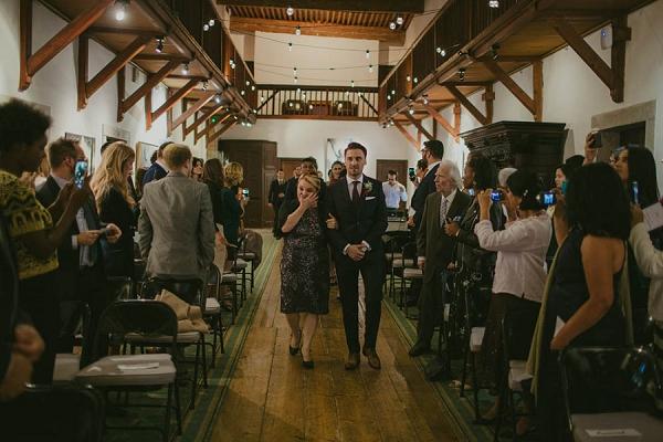 groom wedding aisle