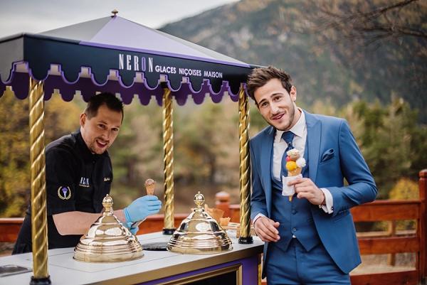 ice cream stand wedding day