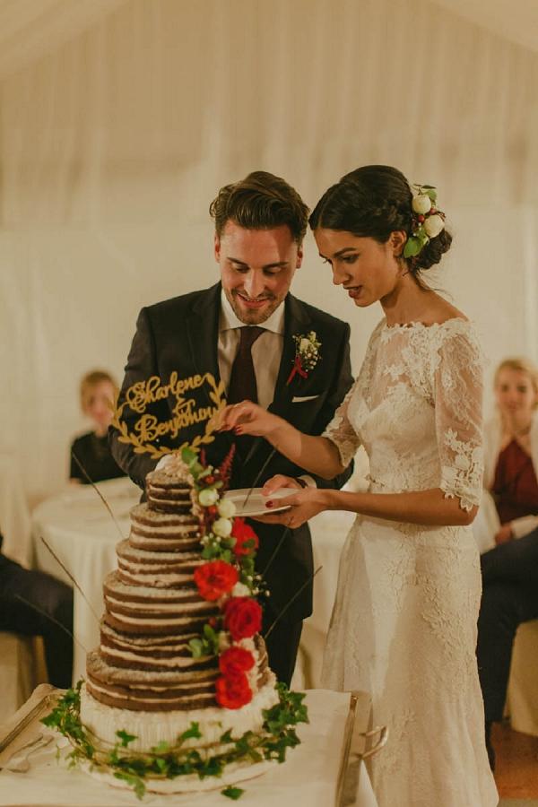 naked cake french wedding
