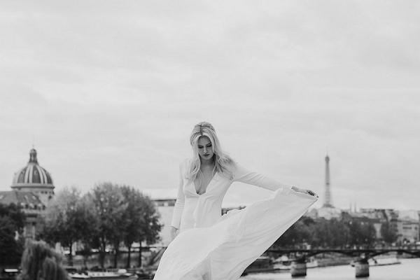 paris black and white photo