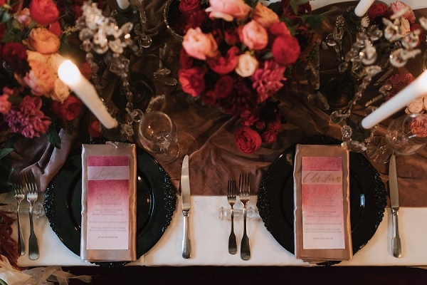 pink and red wedding decor