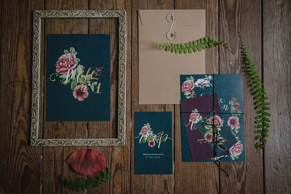 rich wedding stationery ideas