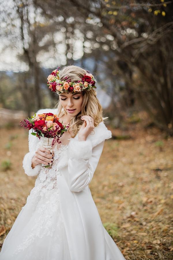 rose autumn flower crown