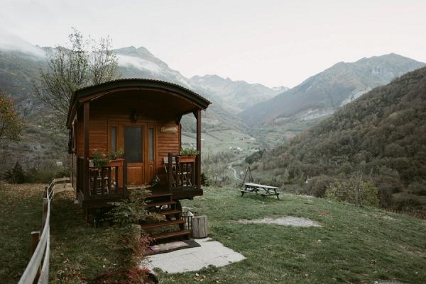 rural wooden caravan