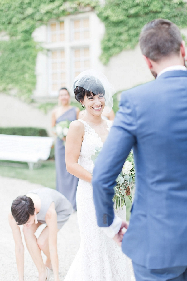 short bridal veil